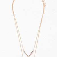 Layered V-Pendant Necklace