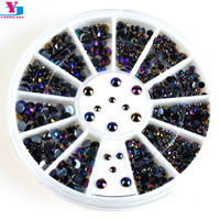 New Glitter 3D Nail Art Decorations Shiny Colorful Sticker Steeple Design Nail Tools Jewelry Nails Crystal DIY Nail Supplies