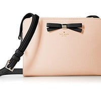 Kate Spade New York Henderson Street Fannie Leather Crossbody Bag in Urchin Pink/Black