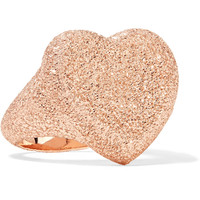 Carolina Bucci - Florentine Heart 18-karat rose gold ring