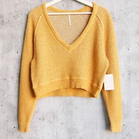 Free People - High Low V Textured Slouchy Sweater - De Soleil