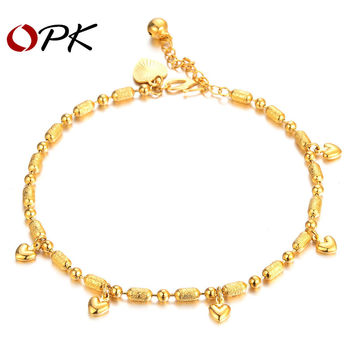 OPK Fashion Handmade Foot Chain Charming Lady's Sexy Europe Style Anklets Gold Plated Metal Adjustable Ankle Chains 725