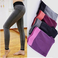2015 Brand new Women Yoga Sports Elastic Pants Force Exercise Tights Female Fitness Sports Running Trousers Slim Leggings = 1931826756