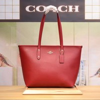 COACH WOMEN'S LEATHER TOTE BAG HANDBAG