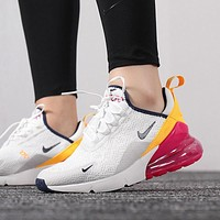 NIKE Air Max 270 Air cushion jogging shoes-1