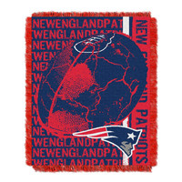 New England Patriots NFL Triple Woven Jacquard Throw (Double Play) (48x60)