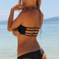 Lahaina Bottom - Reversible - Black/Pinstripe