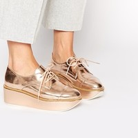 ALDO Quirta Rose Gold Flatform Shoes at asos.com