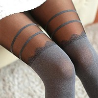 Fashion Women's Socks Sexy Warm Thigh High Over The Knee Socks Long Cotton Stockings For Girls Ladies Women