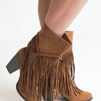 Let's Be Fringe Rust Boots