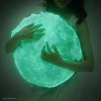 The Moonlight hug cushion, NOCTURN BY MOONLIGHT ( glow in the dark moon pillow )