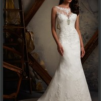 White Mermaid Sweetheart Lace 2013 Wedding Dress IWD0241 -Shop offer 2013 wedding dresses,prom dresses,party dresses for girls on sale. #Category#