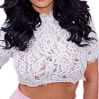 'The Katarina' Peplum Crochet Cropped Tops Vest Blouse