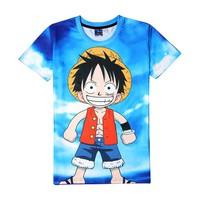 One Piece Kid Luffy Short Sleeve 3D Printed Sportswear T-Shirt
