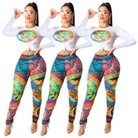 VERSACE New Popular Women Casual Round Collar Top Pants Set Two-Piece