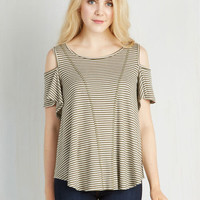 Mid-length Short Sleeves Shoulder Known Better Top