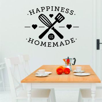 Happiness is Homemade Wall Decal Sticker Bedroom Room Art Vinyl Home Decor Teen Food Kitchen Family Funny Love Eat