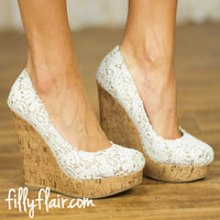 Walk Into Summer Lace Wedges