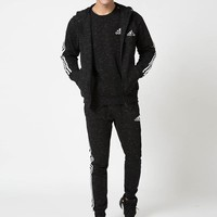 Adidas Fashion Casual Hooded Cardigan Jacket Coat Pants Trousers Top Sweater Set Three-Piece