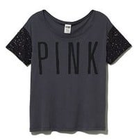 Sequin Scoopneck Tee - Victorias Secret PINK - Victoria's Secret