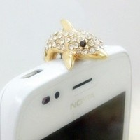 Dust Plug- Earphone Jack Accessories Crystal Lovely Bling Dolphin / Cell Charms / Ear Jack for Iphone 4 4s / Ipad / Ipod Touch / Other 3.5mm Ear Jack (With Cutely Gift Box)