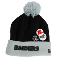 Oakland Raiders NFL Button Up Knit Hat