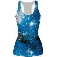 Womens Pretty Galaxy Slim Tank Top Casual Sports Vest for Summer Free Shipping
