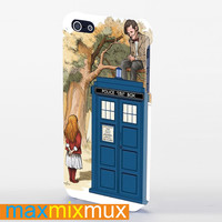 Alice Wonderland And Doctor Who iPhone 4/4S, 5/5S, 5C Series Full Wrap Case