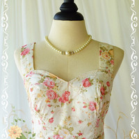 A Lovely Queen Sweet Romance Dresses Gorgeous Cocktail Prom Party Dress Wedding Bridesmaid Dress Floral Tea Dress With Strap Custom Made