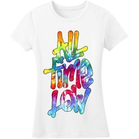 All Time Low  Magic Marker Junior Top White