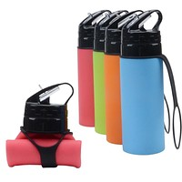 Outdoor Cycling Water Bottle, Portable Foldable Silicone Water Bag, Sports Children Water Bottle 450Ml
