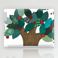Teal Tree iPad Case by Erin Brie Art