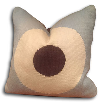Sold Out - Lucky Strike Pillow & Cover by Jonathan Adler | Blue Brown Cream