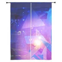 Abstract Triangles Curtains