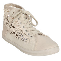 Crochet High-Top Sneakers | Shop Just Arrived at Wet Seal