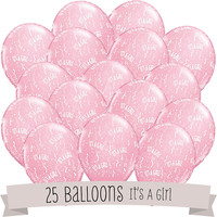 It's A Girl! - Baby Shower Balloons - 25 ct