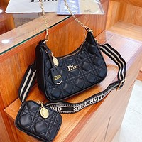 Dior two-piece personality all-match shoulder bag