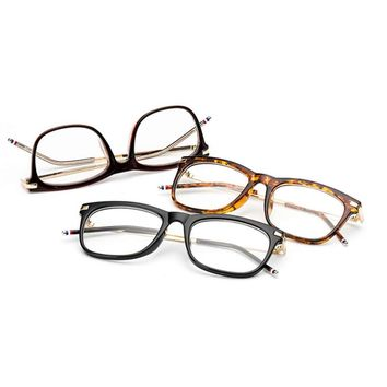 High Quality Fashion Women's Trendy Classic Women Vintage Eyeglasses Metal Alloy Frame PC Lens Plain Glass Spectacles