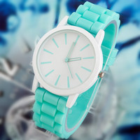 Ladies Classic Gel Crystal Silicone Watch - 15 Colors FREE SHIPPING