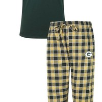 Green Bay Packers Medalist Men's T-Shirt and Flannel Pants Sleep Set