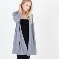 Romy Knit Open Sweater (Charcoal)