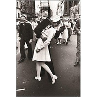 V-J DAY in TIMES alfred eisenstaedt VINTAGE poster CLASSIC KISSING 24X36 hot