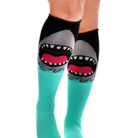 Rolled over the Knee Socks - Jaws