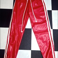SWEET LORD O'MIGHTY! BABYGIRL LEATHER SWEATPANT IN RED