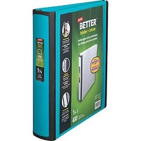 Staples Better 1.5-Inch D 3-Ring View Binder, Teal (13468-CC) | Staples