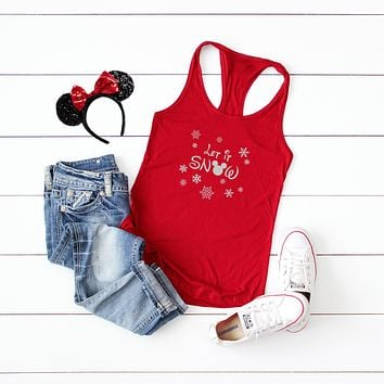 Let it Snow - Disney Christmas | Racerback Tank