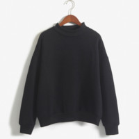 Plain Casual Pullover, Multiple Colors