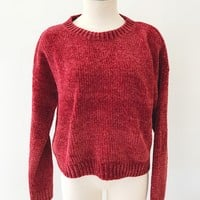 DENIZ CHUNKY SWEATER- RED