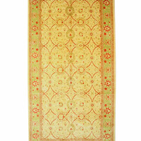 Ivory Traditional Mahal Rug, 10' x 19'4