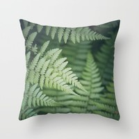 Where the Redwood Tree Fern Grows Throw Pillow by CMcDonald   Society6